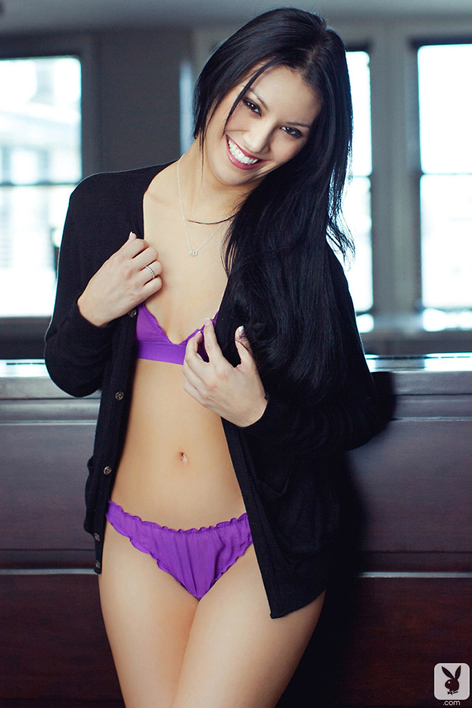 Jessica Anne Marie Indian Beauty Peels Purple Lingerie
