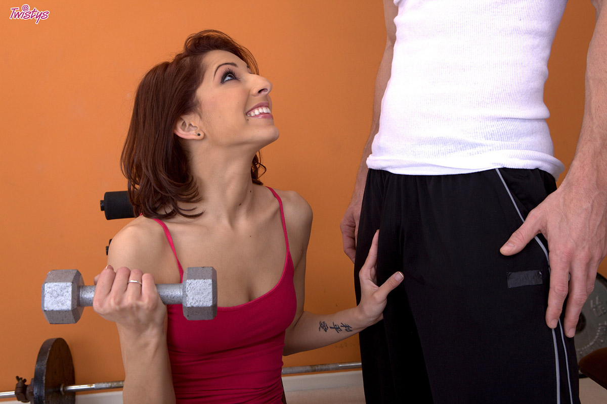 Lexi Bloom Gives her Blowjob Muscles an Intense Workout