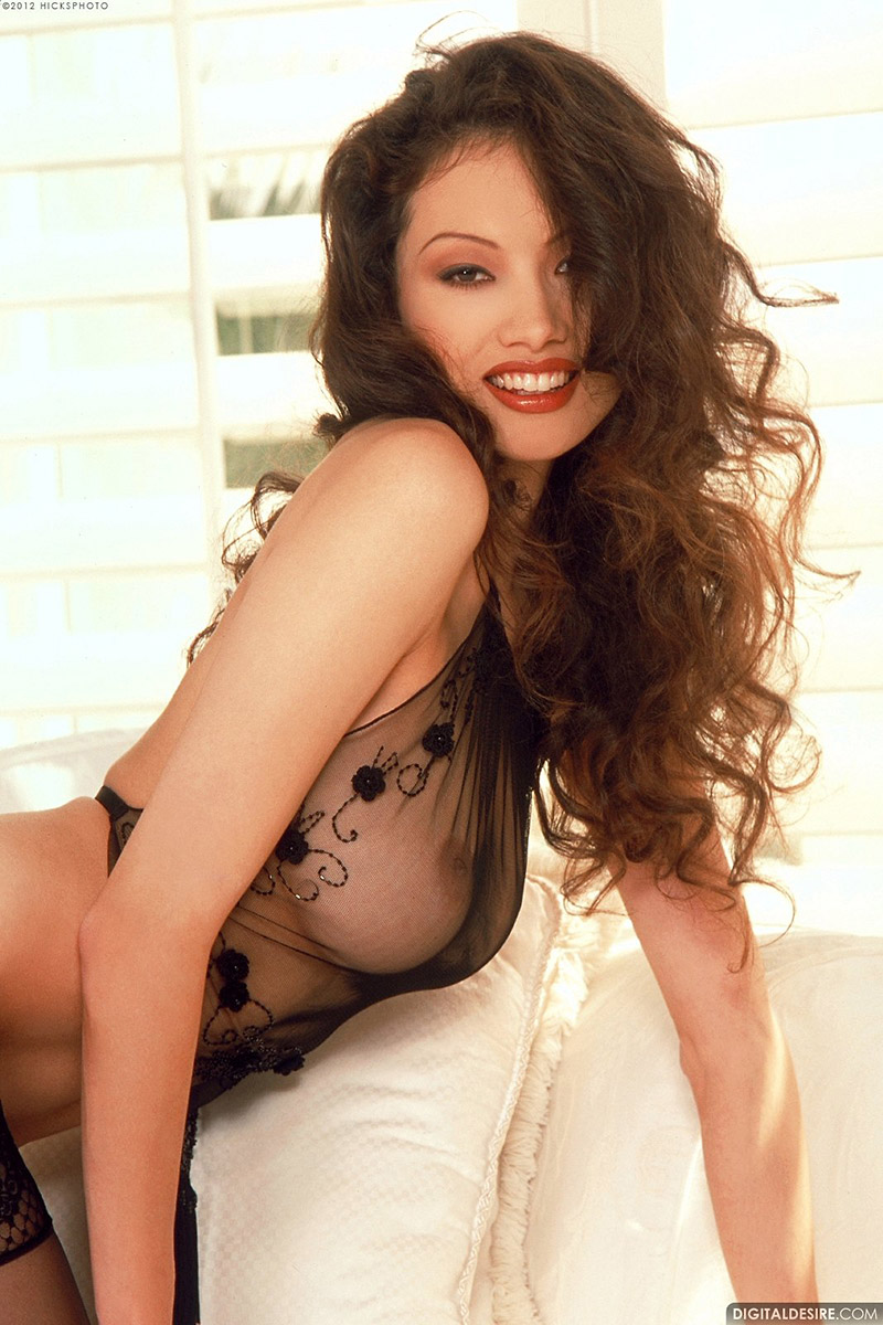 Linn Thomas Classic Asian Beauty in Black Stockings