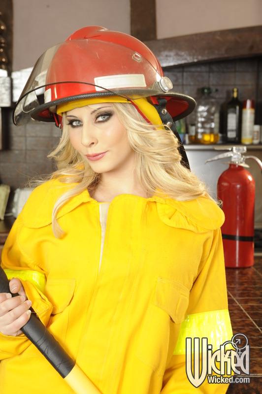 Madison Ivy Busty Firefighter Bares Blazing Hot Bod