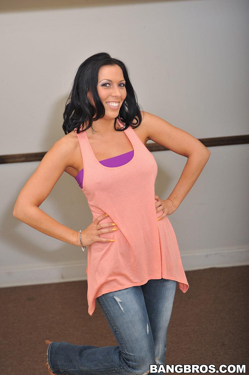 Rachel Starr Crosses Wet Floor for Gushing Handjob